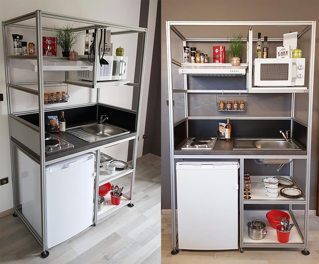 Acheter Cuisinette Kitchenette Mini Cuisine Aluminium