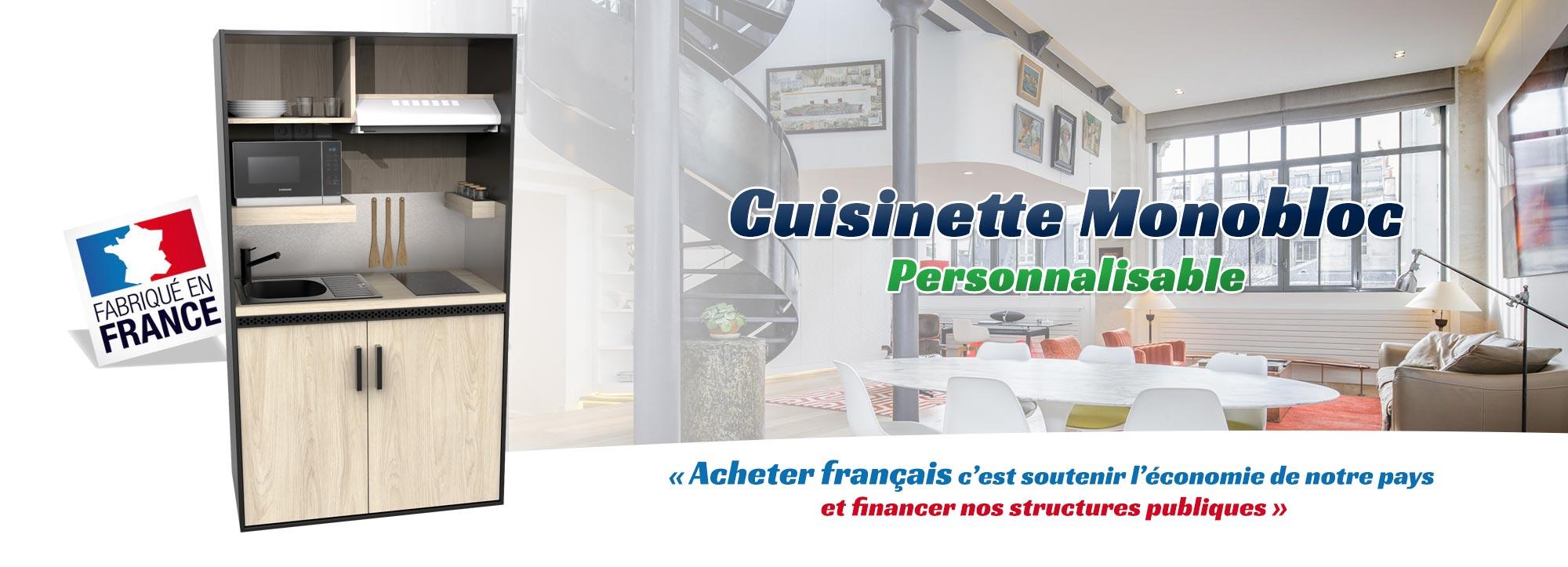 Meilleur Rapport Qualité Prix Cuisine Aménagée cuisinette monobloc personnalisable de qualité - eranovea